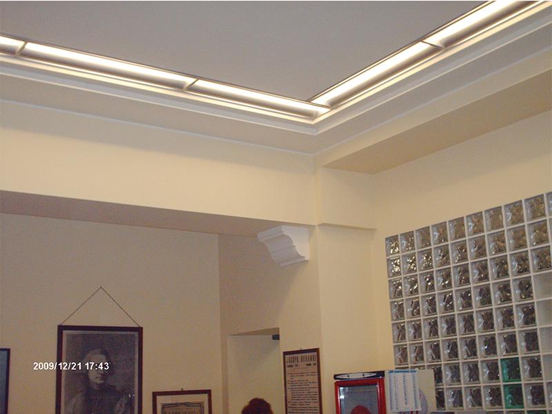 Interni decorazioni tappezzerie controsoffitti roberto michela - Decorazioni in cartongesso ...